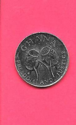 GHANA KM31a 1999 UNC-UNCIRCULATED BU MINT LARGE DRUM 50 CEDIS MUSICAL THEME COIN