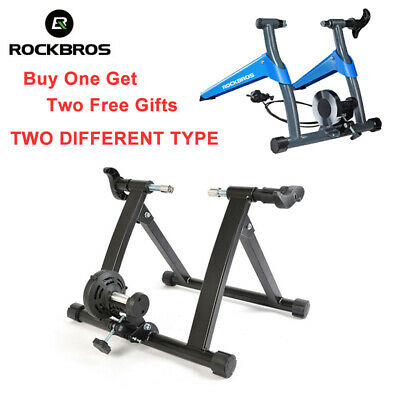 RockBros Indoor Cycling Bicycle Foldable Parabolic Sports Rollers Trainer Blue