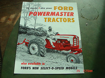 VINTAGE 1959 FORD SELECT - O - SPEED TRACTOR BROCHURE PAMPHLET Catalog #16