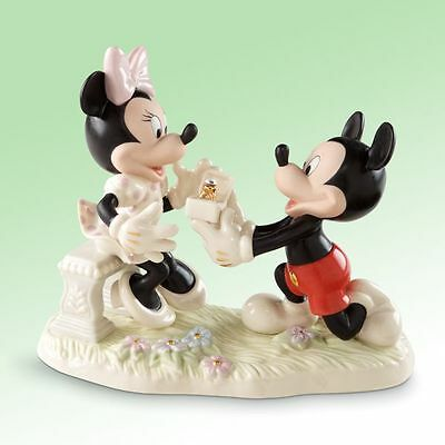 Disney Mickey and Minnies Dream Proposal Engagement Fine China Figurine by Lenox