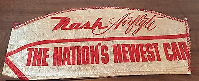 "Offers! Rare & Original! 1949 Nash Airflyte Promo Hat! ""the Nation's Newest Car"""
