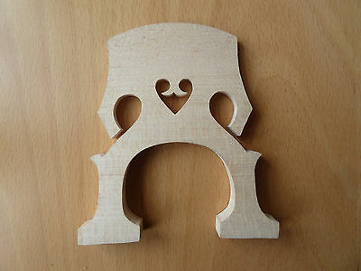 4/4 Maple Crafted Cello Bridge, French Style, Cheapest UK Stock On Ebay
