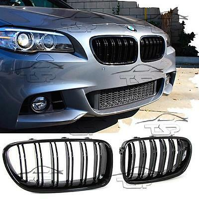 FRONT GRILLS BLACK GLOSS FOR BMW F10 F11 from 2010 M5 LOOK SERIES 5 SPOILER NEW