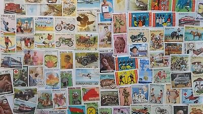 100 Different Burkina Faso Stamp Collection