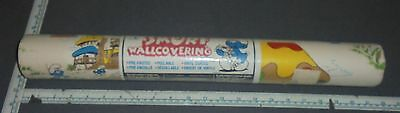 Smurf Wall Covering Wall Paper 71.7sqft ~ 20.5in x 42ft ~ New Old Stock