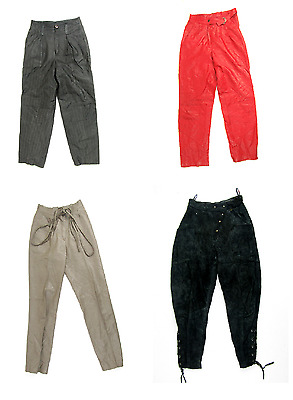 23 X Women's Vintage Leather Trousers Some High Waist Mix Of Styles And Eras