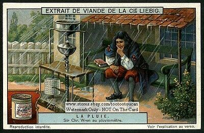 Christopher Wren Rain Gauge Invention Weather Forecasting 1920 Trade Ad Card