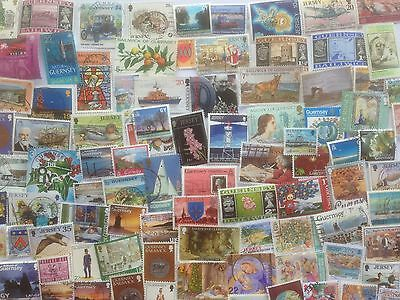 200 Different Channel Islands Stamp Collection