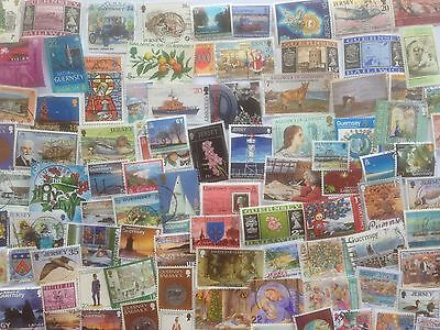 500 Different Channel Islands Stamp Collection
