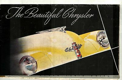 1946 Chrysler Windsor, Sartoga, New Yorker, Town & Country Color Sales Brochure