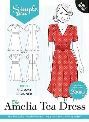 Simple Sew Sewing Pattern Amelia Tea Dress Size 6 - 20 Sale