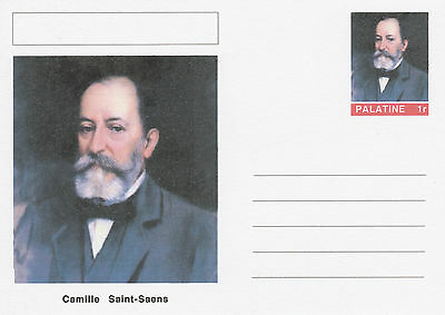 CINDERELLA - 4573 - Camille SAINT-SAENS  on Fantasy Postal Stationery card
