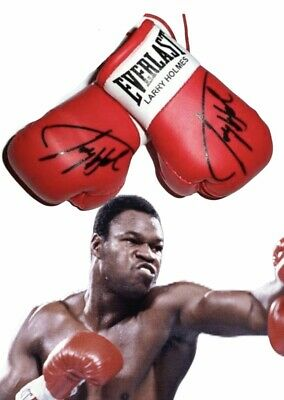Signiert Mini Boxhandschuhe Larry Holmes