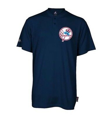 NY Yankees Majestic Cooperstown 2 Button MLB Jersey Cool Base Shirt Boys S M NWT