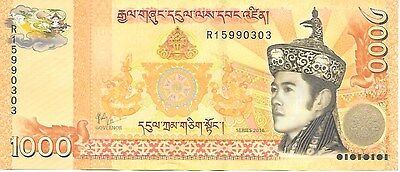 BHUTAN Ngultrum (Nu.)1000 issue 2016