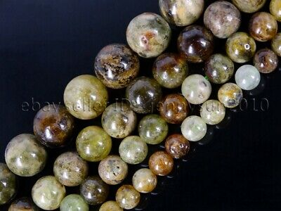 Natural Tsavorite Gemstone Round Spacer Loose Beads 15'' 4mm 5mm  8mm 10mm 12mm