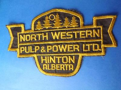 North Western Pulp & Power Ltd Hinton Alberta Large Employee Patch