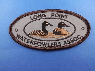 Long Point Waterfowlers Assoc. Patch Vintage Ontario Canada Souvenir Collector