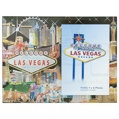 Las Vegas Sign Hotels Picture Frame Casino Photo Glass MGM High Roller Vic Foil