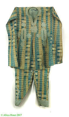 Hausa Grand Boubou Outfit Embroidered Stripes Nigeria African Textile