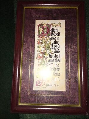 Home Interiors Psalm 37:4 Matted and Framed Picture Delight Thyself In The Lord