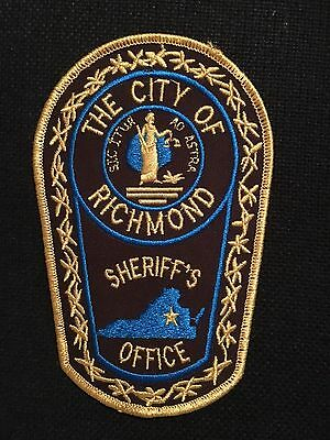 The City Of Richmond  Virginia Sheriff  Shoulder Patch
