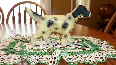 Vintage Irish Pointer Dog Hard Plastic Figurine