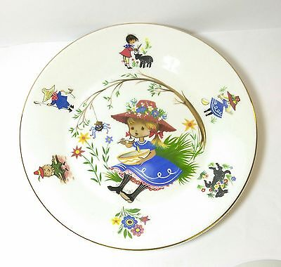 Arklow Republic Of Ireland Nursery Rhyme Little Miss Muffet Child's Plate