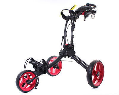 Clicgear Rovic Rv1C Golf Buggy - Charcoal / Red - New - #e103