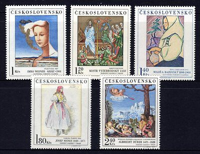 Czechoslovakia 1971 Art 6th Series Set 5 MNH