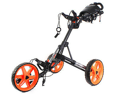 Clicgear Rovic 3.5 Plus Golf Buggy - Charcoal / Orange - New - #e98