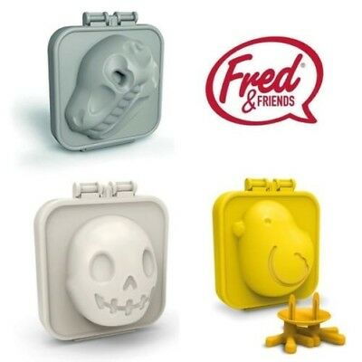 Fred EGG-A-MATIC gekocht Ei Form in Chick, Dinosaur / Totenkopf Form