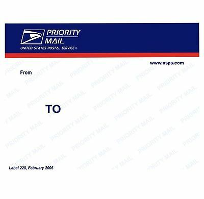 USPS PRIORITY MAIL Sticker - 20 Stück Original PRIORITY Slaps
