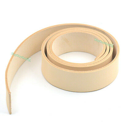 """1.5"""" Vegetable Tanned Leather Natural Strip Leather Belt Strap Blank Accessories"""
