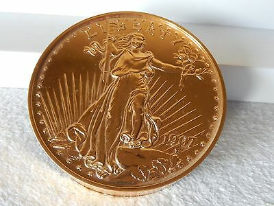 1907 $20  Gaudens Double Eagle Gold Coin Giant Paperweight Sandhill Bullion LTD