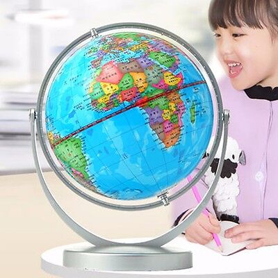 World Globe Earth Ocean Atlas Map With Rotating Stand Geography Educational Toy