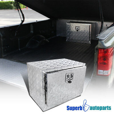 "24""x17""x18"" Truck Under Bed Tool Box Underbody Storage Pickup Trailer w/Lock"