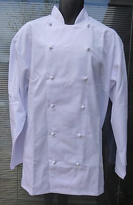 Alexandra BT151 White Whites Chef Chefs Double Breasted Stud Jacket  C2 (TH6)