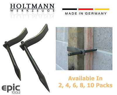 HOLTMANN German Dutch Bricklaying Clamps Concrete Hook Masons Profile Pins/Pegs
