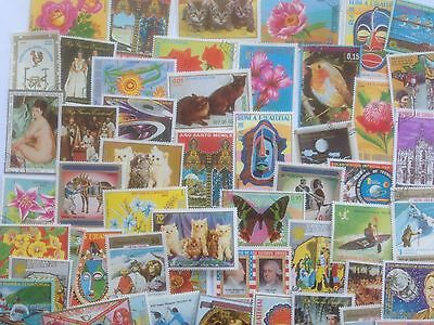 300 Different Equatorial Guinea Stamp Collection