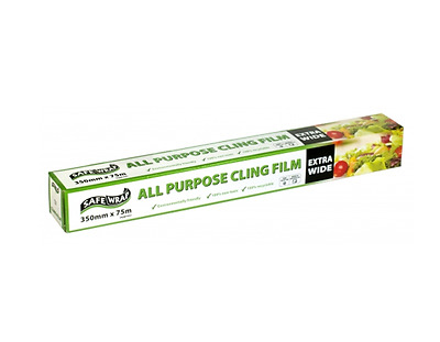 Extra Wide Kitchen Cling Film Food Wrap (350mm x 75m) Multi Buy Savings