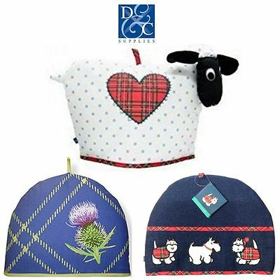 D&C Supplies Scottish Tea Cosy Cotton Polyester Wadding 6-8 Cup Various Designs