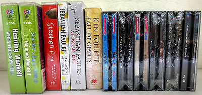 New Huge Lot UK CD Audio Books: Faulks Mankell Fry Follett Kennedy Shakespeare