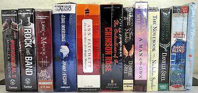 *New* Huge Lot CD Audio Books: Valentine Hunter Hershon Steel Sparks Wilson etc
