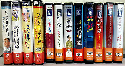 *Huge Lot* Playaway Audio Books: Bennett Durrell Wodehouse Neate Titchmarsh Gale