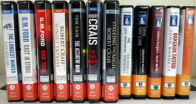 *Huge Lot* Playaway Audio Books: Kershaw Crais Cain Faulks Burgess Burdett Ford
