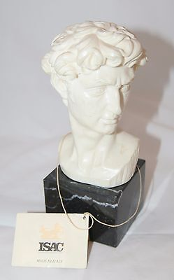 Vintage Michelangelo Bust 'David' by A. Santini Sculpture Made in Italy
