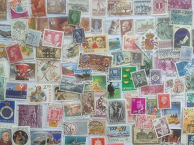 3000 Different West Europe Stamp Collection