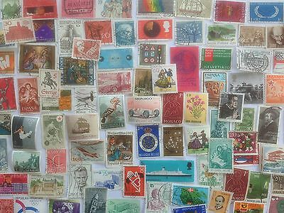 1000 Different West Europe Stamp Collection - LARGE STAMPS