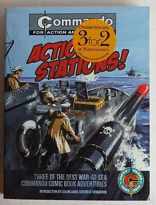 COMMANDO for action and adventure: Action Stations! Three stories in one book.